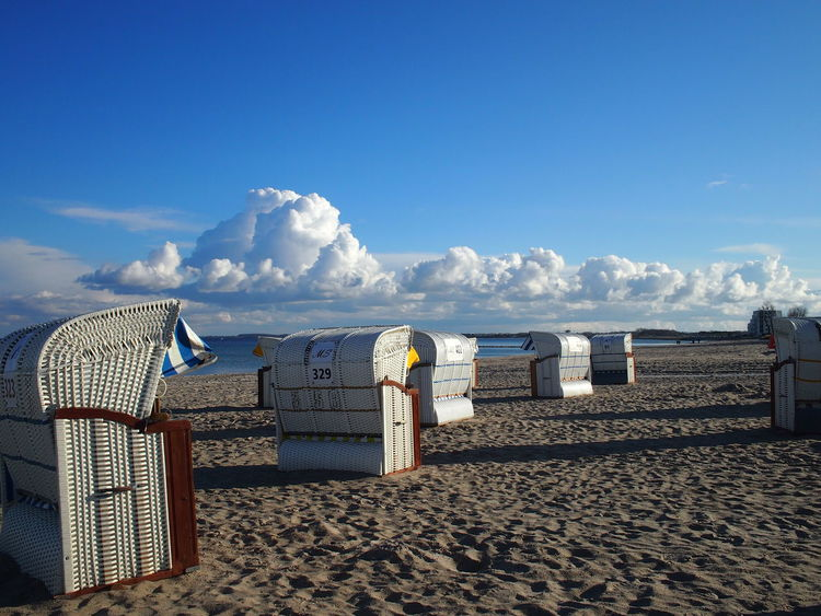 Ostsee Beach Beauty In Nature Cloud - Sky Day No People Outdoors Sand Sea Sky Sunlight Tranquil Scene