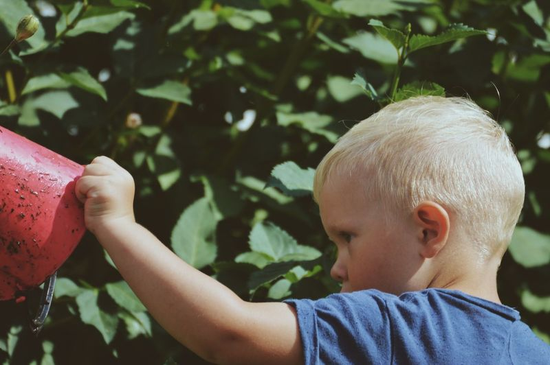 Freedom Lifestyle Summertime Garden Backyard Green Color Child Childhood Real People Boys Headshot Males  Leisure Activity Lifestyles Portrait One Person Focus On Foreground Plant Nature Innocence Day Cute Outdoors My Best Photo The Portraitist - 2019 EyeEm Awards