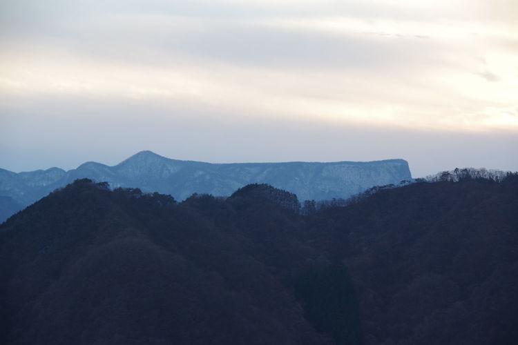 妙義山から見た荒船山 荒船山