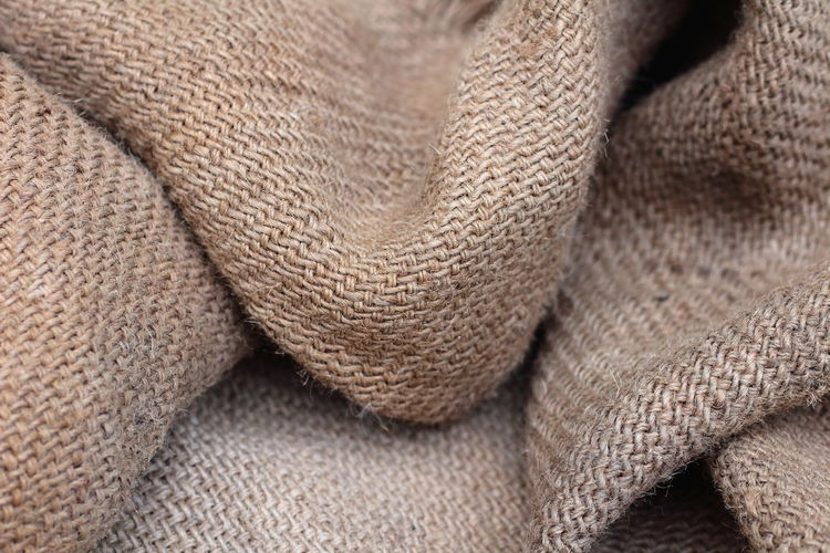 Textured  Background Closeup Matt Fabric Jute Textile Textured  Brown Close-up Fiber Cotton Cotton Plant Cloth