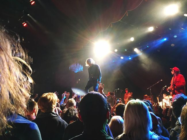 Ty Segall standing on the crowd Concert Photography Punk Ty Segall Crowd