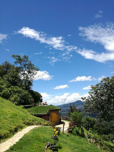 Hobbitenango Guatemala Guatemala View Guatemala Secrets Green Color Green Grass Green Green Green!  Green And Blue Blue Sky Blue Sky And Clouds White And Blue White Clouds Nature Photography Little House Outdoors No People Cloud - Sky Outdoors Photography Outdoorshot Green Nature White Clouds Blue Sky Mountains And Sky Door Art Is Everywhere Little House In The Prairie