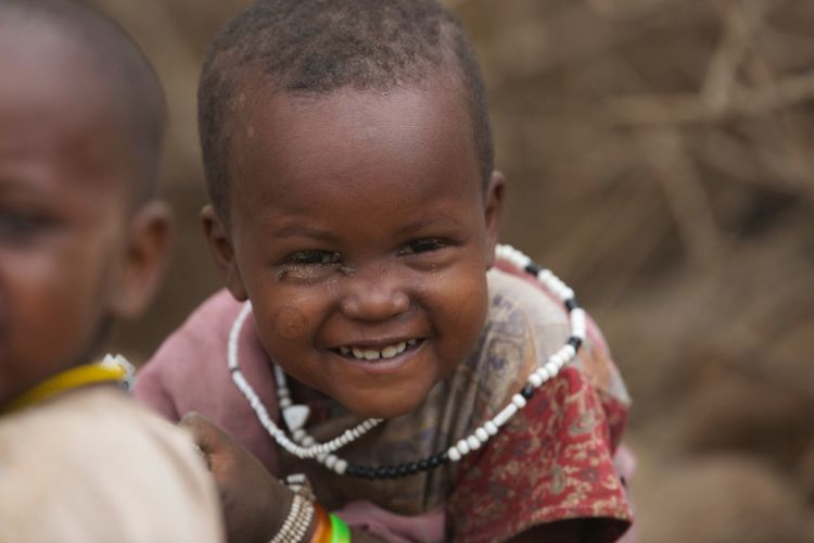 Joy - a Masai child People Tribals Masai Tribe Masai Mara