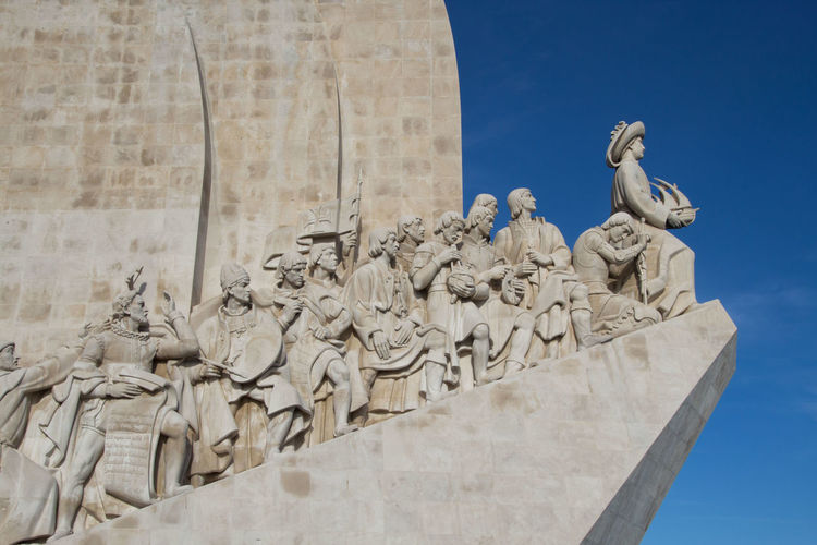 Padrão dos Descobrimentos - monument to Henry the Navigator, is located in the district Belém in Lisbon Padrão Dos Descobrimentos Monument Outdoors Low Angle View Day Sky No People History Travel Destinations Nature Built Structure Architecture Art And Craft Statue Representation Human Representation Memorial The Past Craft Belém Lisbon Lisbon - Portugal Henry The Navigator Sculpture Low Angle View Architecture Art And Craft Statue Memorial Nature