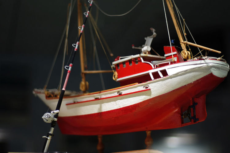 Arts Culture And Entertainment Close-up Fishing Boat Miniature Hanging Marine Decoration Marine Model Nautical Vessel