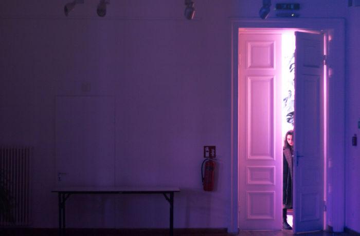 Doors Girl Power Light Up Your Life Lighthouse Lighting Equipment Lights Architecture Bathroom Door Doorway Girl Portrait Illuminated Indoors  Light And Shadow Light And Shadows Light In The Darkness Light Trail Lightning Mirror Night One Person Open Door People Purple Young Adult