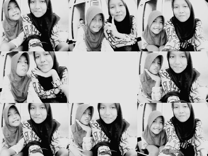 With my sist