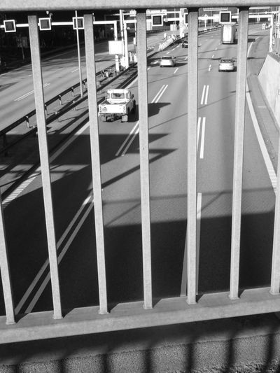 Blackandwhite Highway Lines High Angle View Road Marking Overpass Asphalt Dividing Line