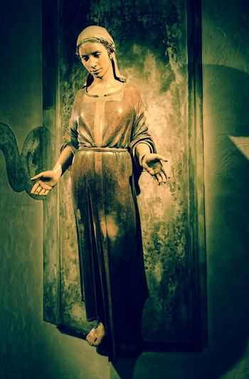 Virgin Mary Religious Icons Statues And Monuments Church Interior No People Serenity Nikon D5100