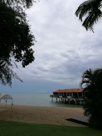 Avilion hotel Port Dickson, Malaysia Water Tree Sea Tranquil Scene Built Structure Sky Tranquility Horizon Over Water Architecture Scenics Cloud Nature Beauty In Nature Cloud - Sky Idyllic Branch Growth Pier Calm Solitude