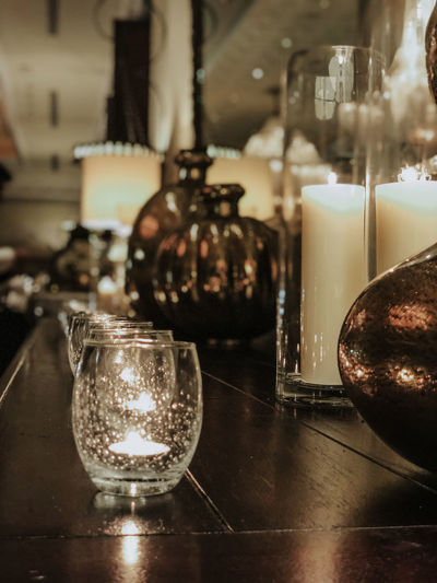 Candle Candles Candlelight Close-up Container Crockery Glass Glass - Material Illuminated Indoors  Jar No People Still Life Table Transparent