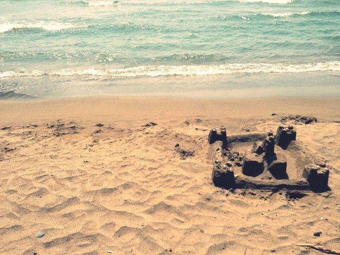 Beach Enjoying The Sun Sandcastles Building Sandcastles