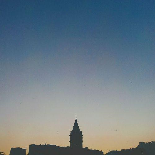 Silhoutte Sunset Silhouettes Eye4photography  ıstanbul Holiday POV OpenEdit Landscape Historical Building Nature On Your Doorstep Turkey Galatatower