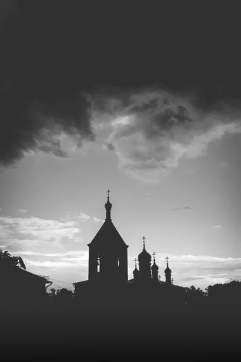 Silhouette Cathedral Clouds Bad Weather Uralsk Kazakhstan🇰🇿