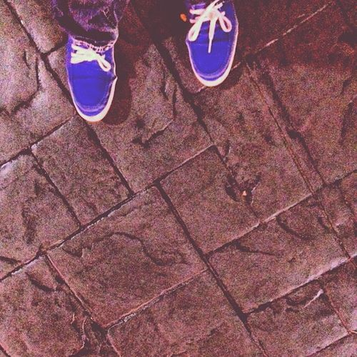 I love wearing my obnoxious blue shoes. Plus they are ridiculously comfortable. Vansandtheylooklikesneakers