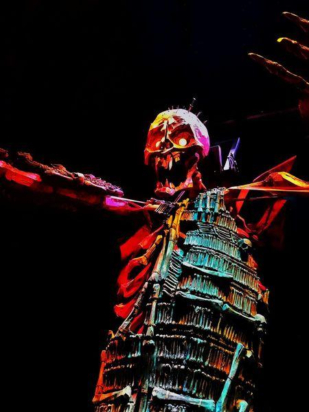 One Person Night Illuminated People Skeleton Kubo MOVIE Universal Studios  Universal Studios Hollywood Laika Studio Giant Large Stopmotion EyeEmNewHere Moviestudio EyeEmNewHere Art Is Everywhere BYOPaper!