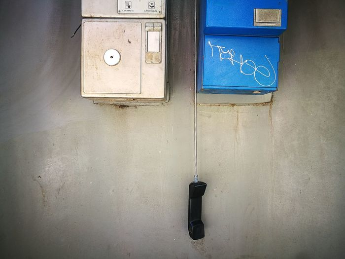 Public phone is dead! Smartphonephotography Huaweiphotography Public Phone Low Tech Urban Phone Dead Phones Lonely Abandoned Safety Door Indoors  Prison No People Day Close-up