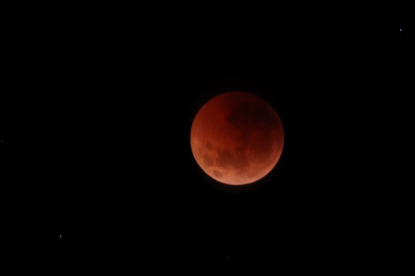Blood moon 2018 Space Moon Astronomy Sky Night Circle Beauty In Nature Geometric Shape Planetary Moon Shape Scenics - Nature Full Moon Moon Surface Eclipse Tranquility Idyllic Orange Color No People Natural Phenomenon