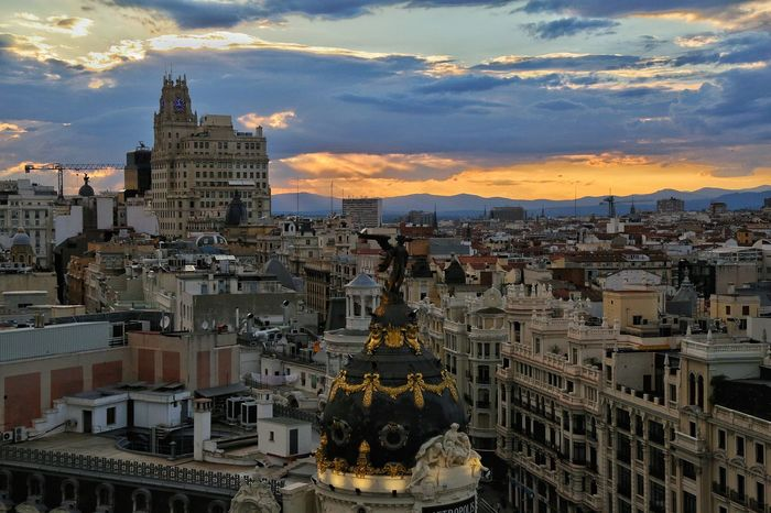 Granviamadrid City Madrid, Spain Sunlight Sky Built Structure Urban Skyline Outdoors Show Us Your Takeaway! Summer Memories 🌄