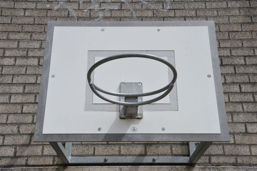 Basketball Hoop Hanging Hoop Netherlands Wall Basketballhoop Baskett Black And White Equipment Sport Sports Stone