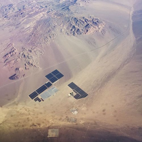 Nevada Valley Desert Solar Energy Photovoltaic Renewable Energy Aerial Shot Industry Power Plant Muddy Mountains Muddy Mountains Wilderness