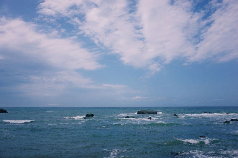 Beach Beauty In Nature Blue Cloud - Sky Day Horizon Horizon Over Water Land Motion Nature Nautical Vessel No People Outdoors Scenics - Nature Sea Sky Sport Water Wave