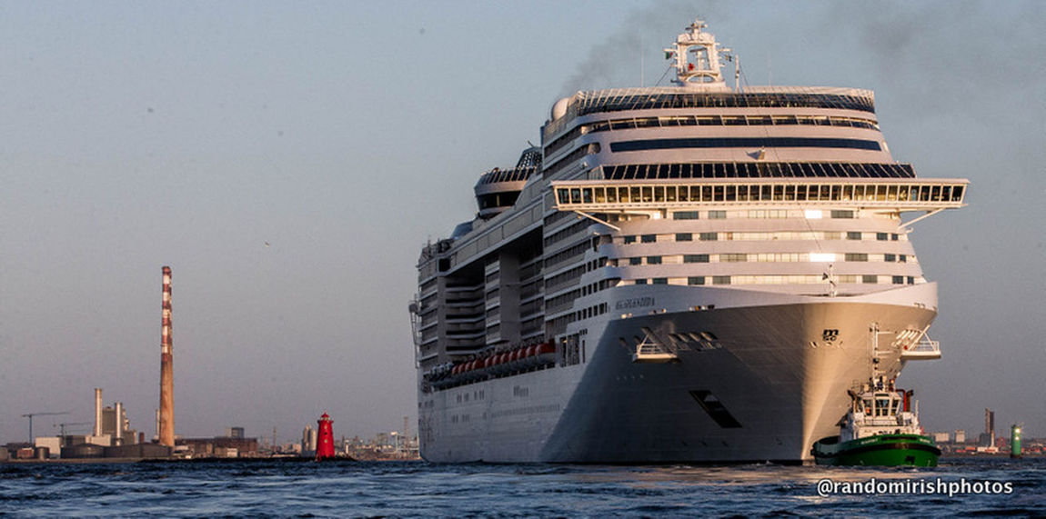 The 11th biggest passenger liner being pulled into Dublin Port last week. Cruise Ship Dublin Ireland Discover Ireland