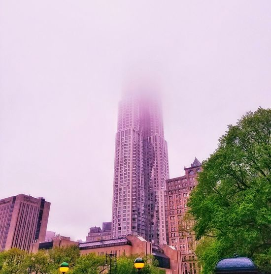 Foggy Weather NYC Photography Sky City Downtown Architecture Foggy Outdoors Building Exterior Nyc Photo The Architect - 2017 EyeEm Awards