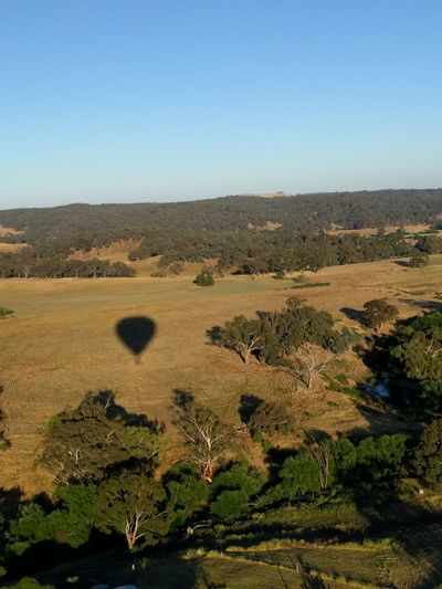 Hot air balloon EyeEmNewHere Hot Air Balloon Daylesford Shadow Landscape Clear Sky Outdoors Scenics No People Sky
