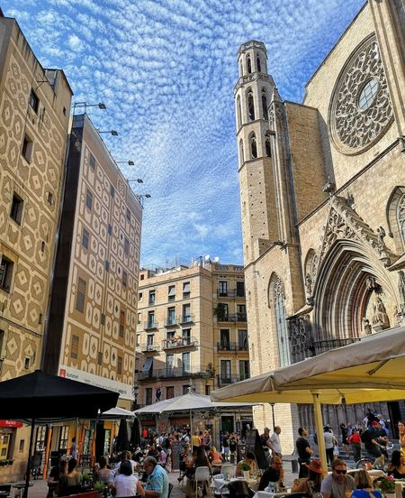 Barcelona City Men City Life Sky Architecture Building Exterior Built Structure Cloud - Sky Town Square Old Town Cathedral TOWNSCAPE Town Place Of Interest