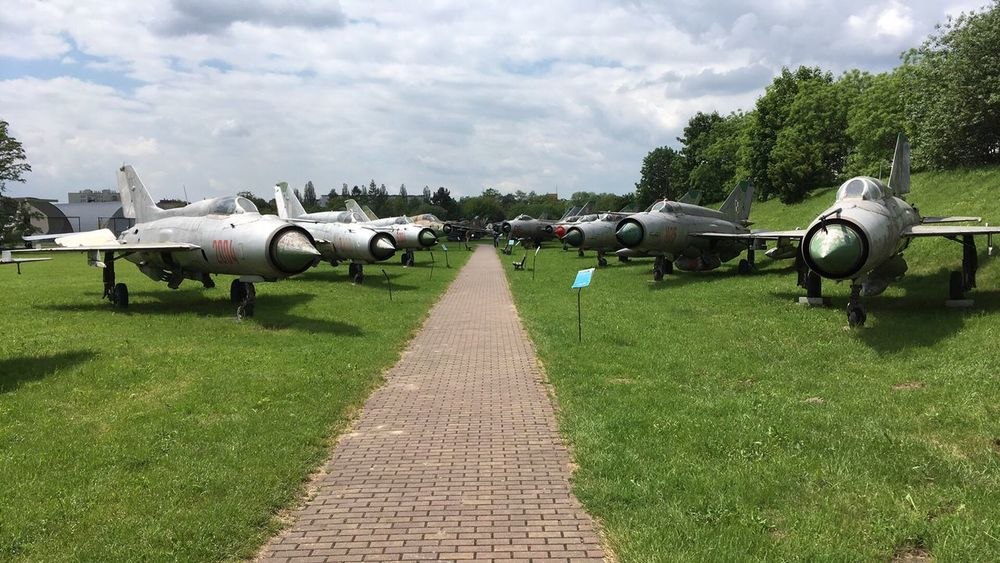Cloud - Sky Cold War Cold War Relic Day Field Fighter Jet Fighter Plane Grass Green Color Jet Engine Migs Military Nose Outdoors Polish Airforce Polish Military Russian Aircraft Russian Airforces Russian Military Sky Transportation War Planes Winged Wings Wingspan