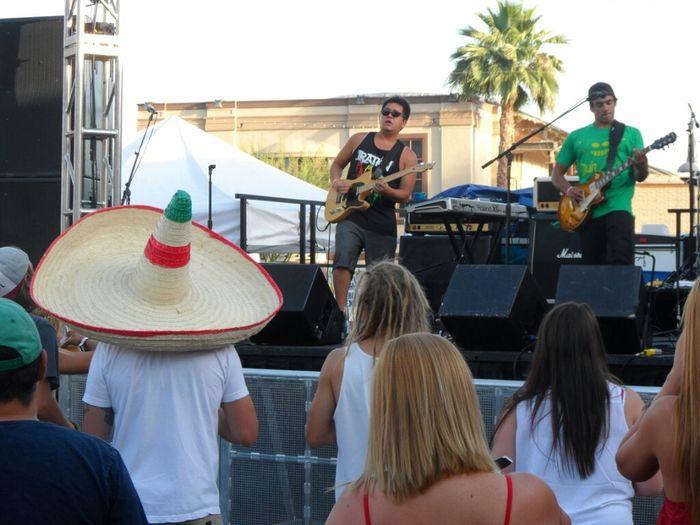 Through The Roots playing dos gringos cinco de mayo blockparty in Scottsdale, Az. Party Arizona Reggae Cinco De Mayo