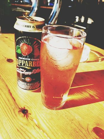Its that time otra vez hving a Kopparberg en La Terazza
