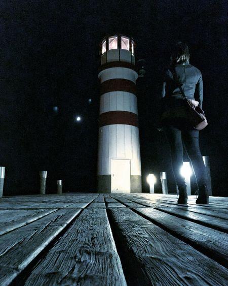 Lighthouse Lake Mystic Autumn Coldoutside Neusiedlersee