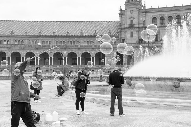 Bubbles Soap Bubbles Black & White Black And White Streetphotography From My Point Of View Blackandwhite Blackandwhite Photography Bnw Eye4photography  EyeEm People People Watching EyeEm Best Shots EyeEm Bnw EyeEmBestPics Monochrome People Photography EyeEm Gallery Taking Photos at Plaza De España Seville SPAIN The Street Photographer - 2017 EyeEm Awards