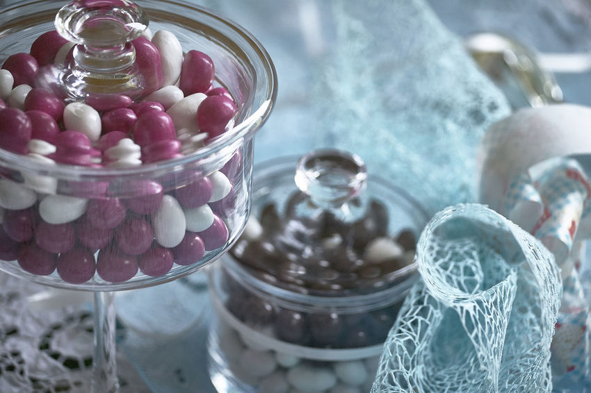 Abundance Bonbonniere Candy Close-up Container Day Focus On Foreground Food Food And Drink Freshness Glass - Material Indoors  Jar Large Group Of Objects No People Selective Focus Still Life Sweet Sweet Food Table Temptation Transparent