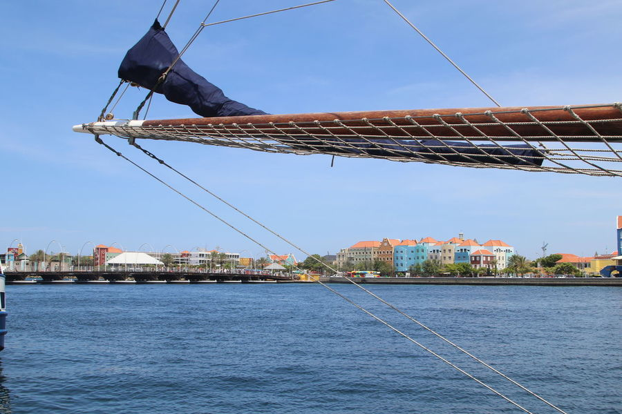 Architecture Blue Built Structure City Clear Sky Day Mast Mode Of Transport Nautical Vessel No People Otrabanda Outdoors Sea Shipyard Sky Water Waterfront