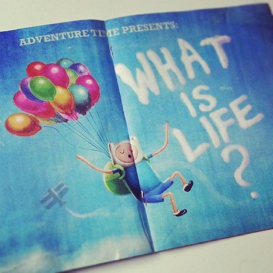 Mind blown... Whatislife 1stedition Poster Ballon art adventuretime cartoonnetwork finnandjake finnthehuman jakethedog
