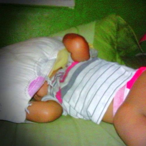 He prefers to sleep with a pillow over his face. He prefers to eat salads than fries. Lol. Davin WeirdChild XmasDiapers Sleeping Innocence MyLove