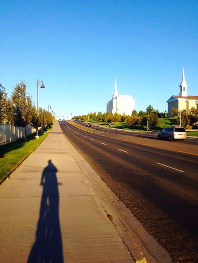 Biking Lds Temples ShadowSelfie