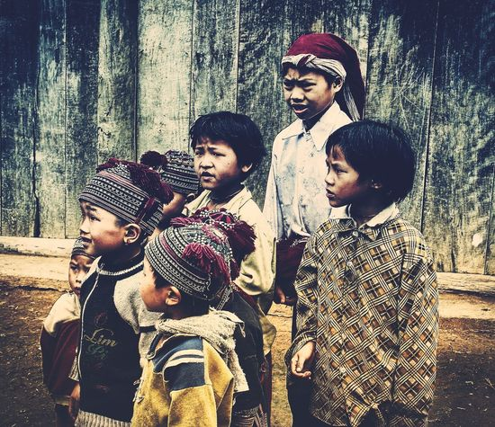 Children of Sapa, Vietnam Authentic Moments The Traveler - 2015 EyeEm Awards Taking Photos Traveling Ethnic People People Watching Button Up Indigenouspeople Indigenous  Children Photography