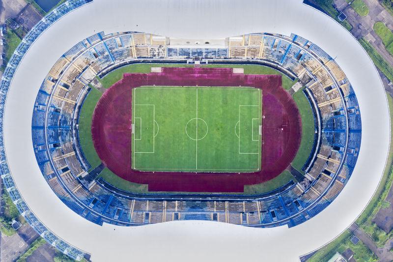 Directly above shot of stadium
