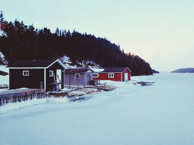 Winter Port - iPhone 4S Winter White By CanvasPop Landscape AMPt_community Shootermag