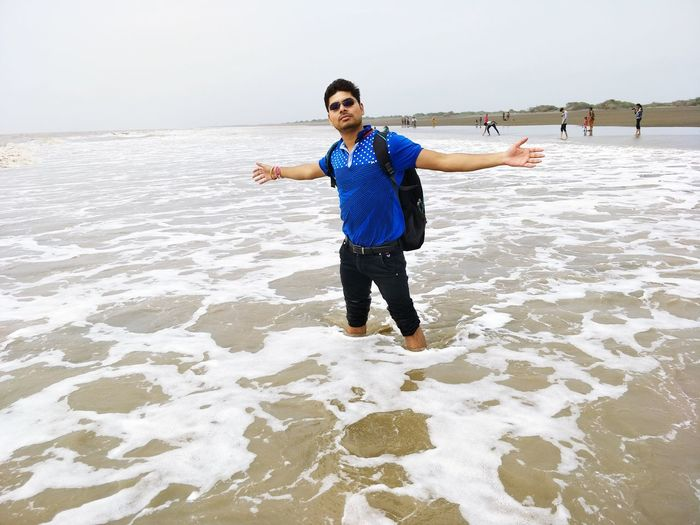 Who needs Rose when you can be your own Jack!! Real People Looking At Camera One Person Standing Front View Water Love Yourself Arms Outstretched Full Length Young Adult Beach Smiling Happiness Gesturing Sea Nature Leisure Activity