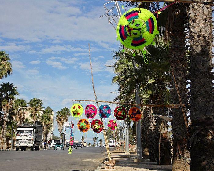 Artisanat Celebration Chapeau Chinese Lantern Festival Day Maroc Multi Colored No People Outdoors Route Sky Tree