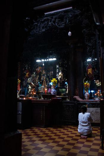 Asian Culture Vietnam Inside The Temple