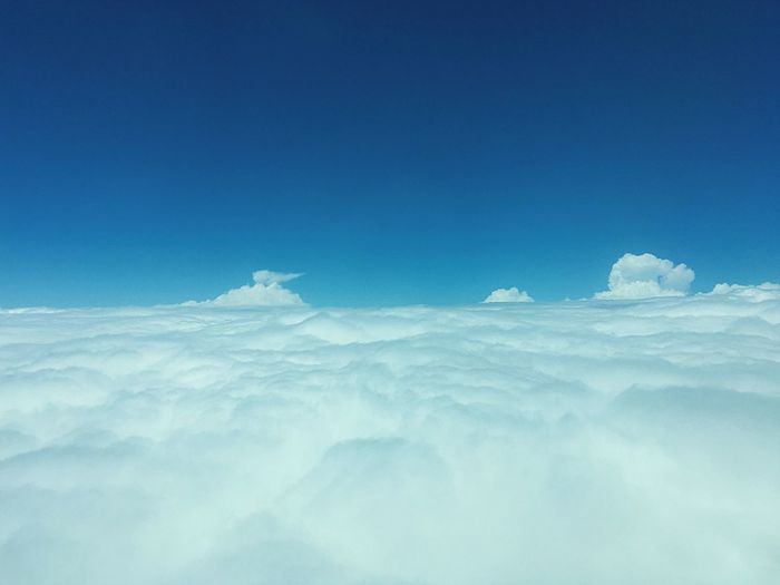 Blue Tranquility Sky Cloud - Sky Copy Space The Natural World