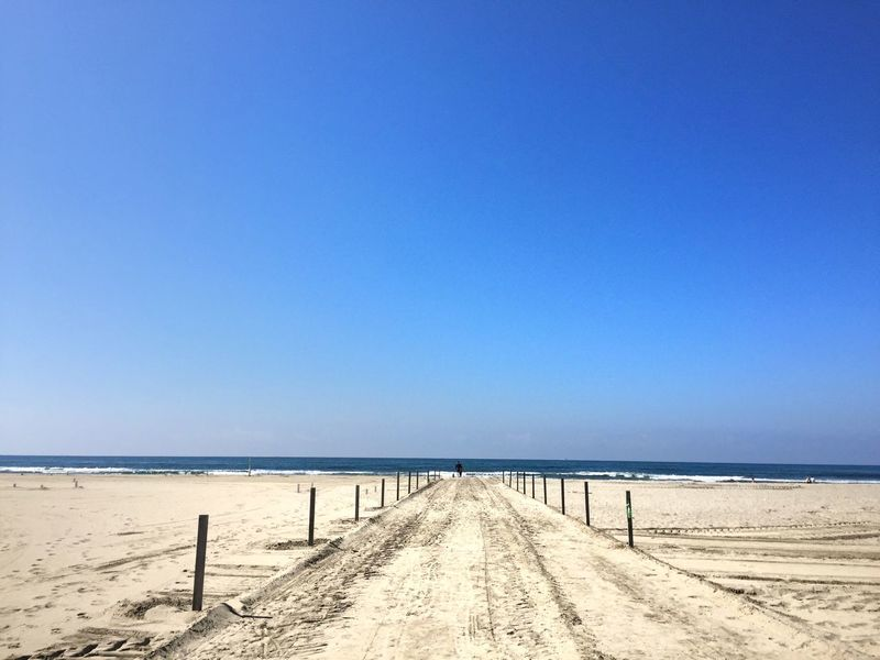 Sea Beach Blue Copy Space Water Sand Horizon Over Water Tranquil Scene Clear Sky Scenics Nature Tranquility Outdoors Day Beauty In Nature No People Sky