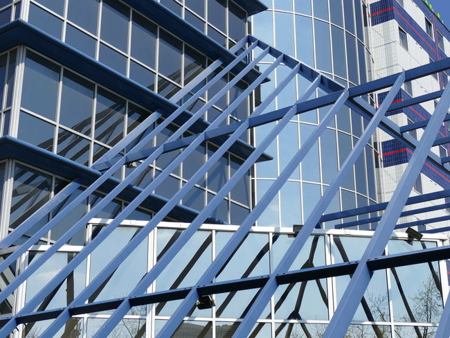 Abstract Abstract Photography Architecture Blue Building Geometry Lines Modern Architecture
