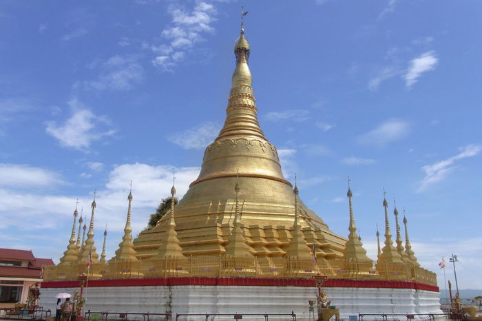 Architecture Budhist Temple Built Structure Low Angle View Myanmar Pagoda Pagoda Building Religion Shan Shan State Sky